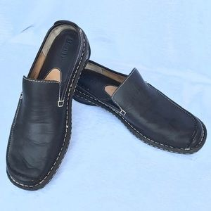 Born Brown Leather backless Slip-on driving Mocs